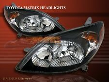 03-08 TOYOTA MATRIX XR/XRS JDM BLACK CRYSTAL HEADLIGHTS HEADLAMPS ASSEMBLY