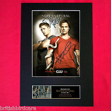 SUPERNATURAL Signed Autograph Mounted Photo Repro A4 Print 136