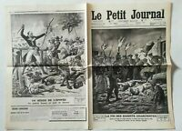 N920 La Une Du Journal Le petit journal 26 mai 1912 la fin bandits anarchistes