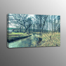 Modern Canvas Print Trees Woods Water Canvas Wall Art Painting Picture No Frame