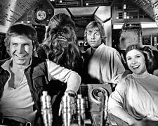 STAR WARS Princess Leia, Han Solo, Chewbacca & Luke Skywalker 8x10 Photo Poster