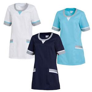Leiber Damen Schlupfkasack Kasack Kurzarm Arbeitskleidung Pfleger Damenkasack