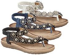 9b24b199ff72 Boulevard Snake Pattern Toe Post Sling Back Summer Mule Sandals Ladies UK 4    EU 37