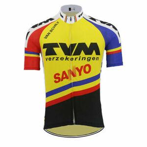 1991 TVM SANYO Cycling Jersey MTB Cycling Jersey Short Sleeve