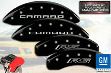 "2016 Chevy ""Camaro RS"" Front + Rear Black MGP Brake Disc Caliper Covers 4pc Set"