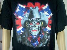 "T -Shirt "" Rebel - Cowboy -Skull  ""  Schwarz Größe  XXL  NEU"