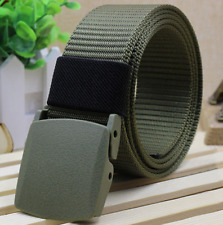 Men's Outdoor Sport Military Tactical Nylon Waistband Canvas Web Belt  Green 16