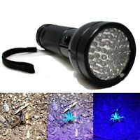 51 LED UV Ultra Violet Flashlight Blacklight Light 395 NM Inspection Torch Lamp