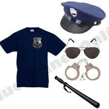 CHILD KIDS BOYS GIRLS POLICE COP FANCY DRESS COSTUME POLICEMAN