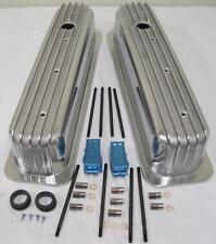 Sbc Vortec Amp Tbi Retro Finned Chevy 350 Tall Aluminum Valve Covers Center Bolt