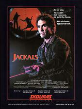 JACKALS_aka_AMERICAN JUSTICE__Original 1985 Trade AD promo_poster_JACK LUCARELLI