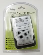 NEW Uninex VS67 Portable AM/FM Pocket Radio with Telescoping Antenna