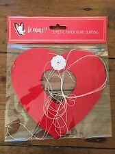 Gorgeous 3 Metre Paper Heart Shaped Bunting *Valentines Day Decoration*