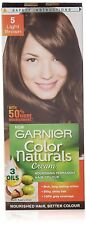 2 x Garnier Color Naturals 5 Light Brown Crème Riche Hair Color 70 ml + 40 gm