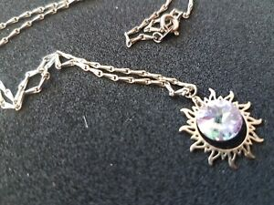 Vintage Stoned 925 Silver Necklace