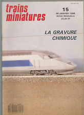 TRAINS MINIATURE N°15 tgv atlantique / chatillon sur seine / pont et viaduc /