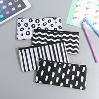 Girl Black White Pencil Pen Case Cosmetic Pouch Pocket Holder Makeup Bag YTBLCA
