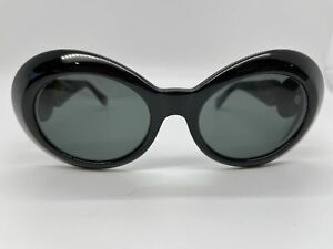 Gianni Versace Vintage Polarized Sunglasses VE418C 852 Black w Gray Polarization