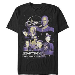 Star Trek Men's DS9 Crew Member Collage  T-Shirt