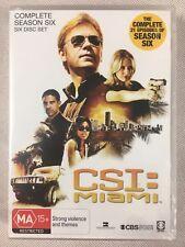 CSI: Miami : Season 6 DVD 2010 6-Disc Set Crime Scene Investigation