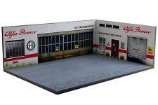 Diorama garage Alfa Romeo - 1/43ème - #43-3-D-H-R-003