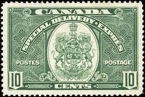Canada Mint H 1939 VF Scott #E7 10c Special Delivery Stamp