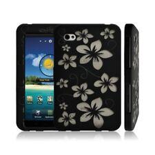 Housse étui coque rigide pour Samsung Galaxy TAB P1000 motif fleur + couleur noi