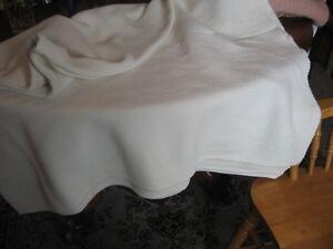 """#B3 vtg handmade rag woven catalogne blanket throws cotton blend new 76 """"X81"""""""
