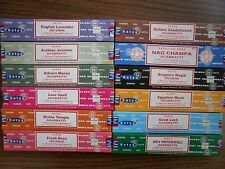 Satya Saibaba Assorted Lot of Incense Sticks 180 gm (12 x 15 gm packs)