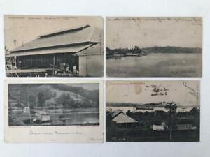 4 Early 1900s Postcards Samarinda Borneo Indonesia with Postmarks