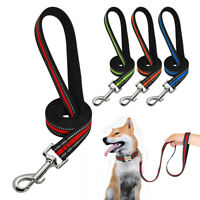 Durable Large Dogs Nylon Dog Lead Reflective Training Lead for K9 Dogs Pit Bull