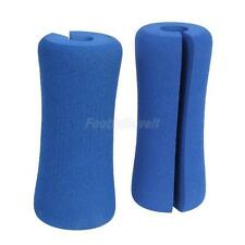 2x Weight Fitness Dumbbell Chin-up Pull-up Foam Sponge Handle Bar Grip Blue