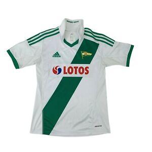 Adidas KS Lechia Gdansk Jersey Kids Size L White/Green Athletic Soccer Football