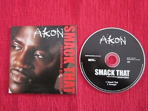 CD SINGLE AKON FEATURING EMINEM SMACK THAT SENEGAL 2006