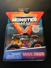 2019 Spin Master Monster Jam Grave Digger Orange Cage 1:64 Figure Poster Metal