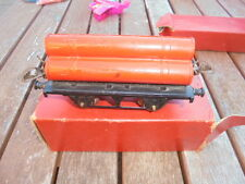 """VINTAGE""""O"""" GAUGE HORNBY GAS CYLINDER WAGON and flat truck boxed r161 42140"""