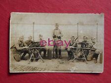photographie CPA ,carte PHOTO militaire 5° DRAGONS  GROUPE DE MITRAILLEUSES