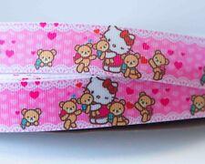 1M X 22mm Grosgrain Ribbon Craft DIY Cake Decoration Bows - Hello Kitty Cartoon