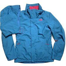 The North Face Women's S Moonstruck Alpine Ski Puff Jacket HyVent Blue & Pink