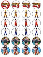 24 x Dragon Ball Z Pre Corte Cumpleaños Cake Toppers De Papel De Arroz