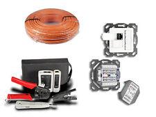 Installations-Set 100mCAT7 Kabel 10x CAT6a Dose 1 x Netzwerkwerkzeug-Set 4teilig