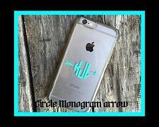 iPhone 8 X Samsung GS8 Decal MONOGRAM Case Sticker Note LG HTC Galaxy Iphone +