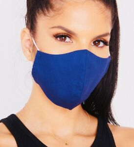 Face Mask Masks Blue Protective Breathable Lightweight Washable Reusable