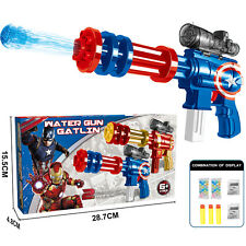 MARVEL HERO CAPTAIN AMERICA WATER BALL SOFT BULLET GUN PISTOL RIFLE KID GIFT TOY