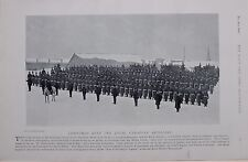 1896 BOER WAR ROYAL CANADIAN ARTILLERY ON PARADE QUEBEC ENGLISH AND FRENCH