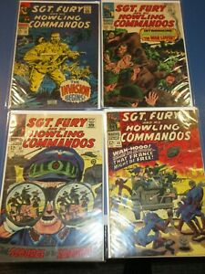 Sgt. Fury #40,43,45,50 lot of 4 VG+  to Fine+ Nick Fury JP