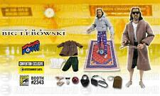 "Big Lebowski Licensed SDCC Exclusive DELUXE 12"" The DUDE Figure SET + RUG LE 486"