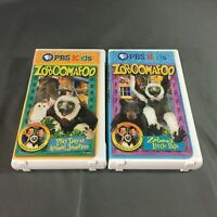 Lot of 2, PBS Kids Zoboomafoo VHS Tapes