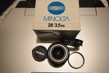 Minolta MD 28mm F3.5 Manual Focus, Wide Angle Lens.