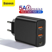 Baseus USB Type C Charger QC4.0 PD 3.0 Power Adapter EU Plug for iPhone Samsung